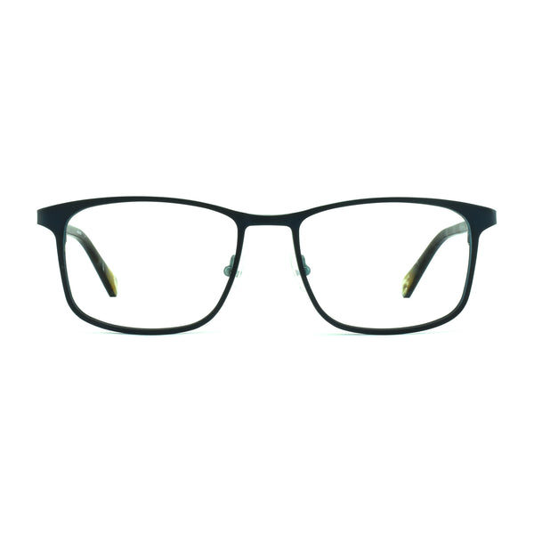 Hicks Brunson - Tizio - Navy / Tort - 167 - Rectangle - Titanium - Eyeglasses - Hicks Brunson Eyewear