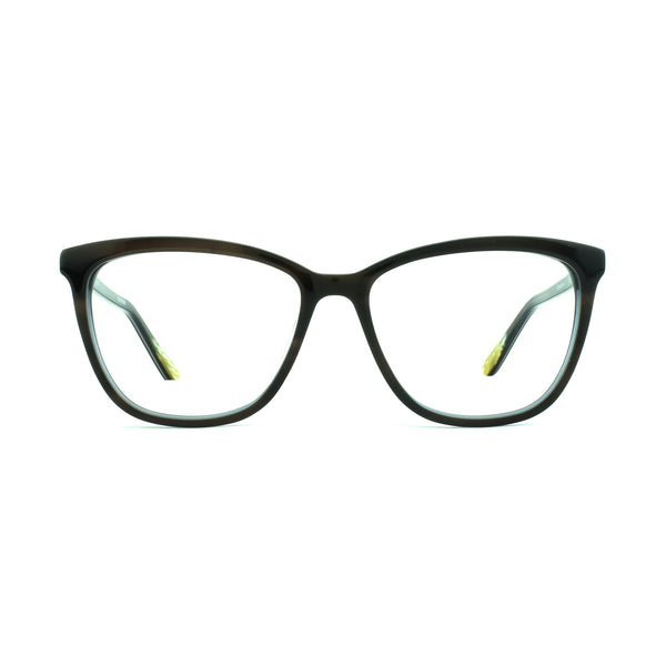 Hicks Brunson - Vanessa - Brown / Blue - 55 - Rectangle - Cateye - Eyeglasses - Hicks Brunson Eyewear