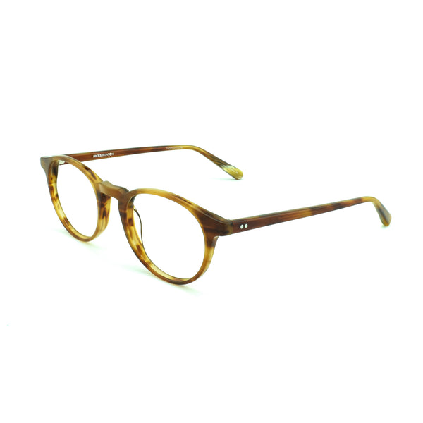 Hicks Brunson - Vega - Light Brown - 1145 - Round - P3 - Eyeglasses - Hicks Brunson Eyewear