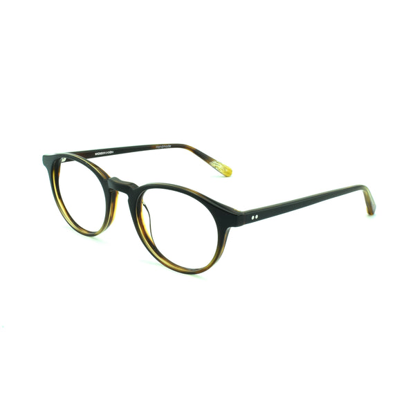 Hicks Brunson - Vega - Dark Brown Fade - 1153 - Round - P3 - Eyeglasses - Hicks Brunson Eyewear