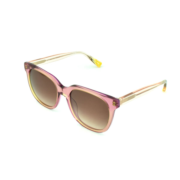 Hicks Brunson - Venus - Blush / Brown Gradient-Tinted Lenses - L.21 - Rectangle - Butterfly - Sunglasses- Hicks Brunson Eyewear
