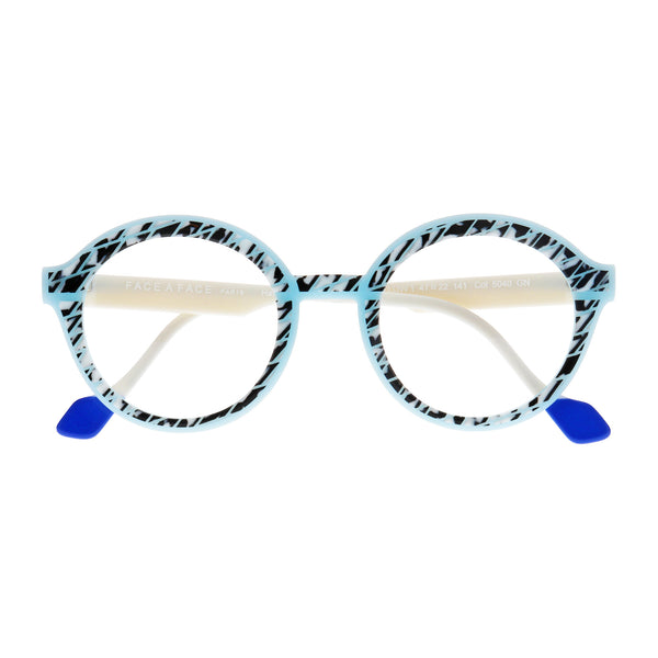 Face A Face - Hollow 1 - 5040 - Pale Blue / Pearl - Round - Eyeglasses