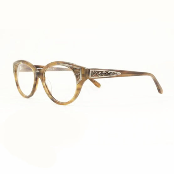 Iyoko Inyake - IY 400 - 43 - Brown/Pewter - Rounded glasses - Cateye glasses
