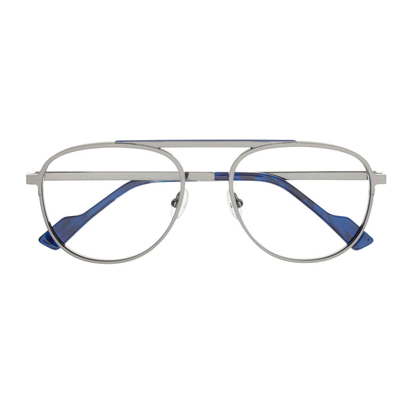 Face A Face - Issey 2 - 9620 - Silver / Cobalt Blue - Aviator - Metal - Eyeglasses - Hicks Brunson Eyewear