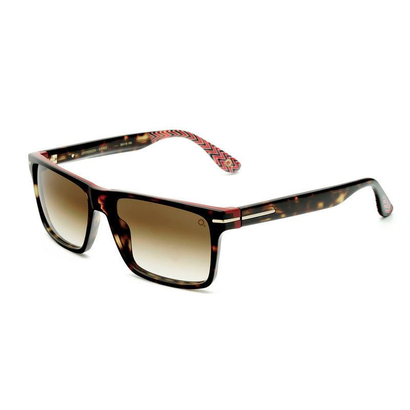 Etnia Barcelona - Jefferson - 1HVRD - Havana / Red / Photochromic Brown-Gradient Tinted Lenses - Rectangle - Sunglasses