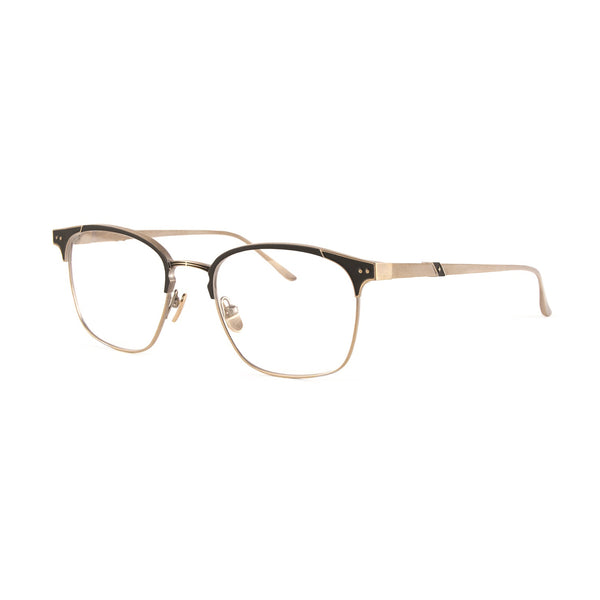 Leisure Society - Eden Roc - Antique Gold - Brow-line - Rectangle - Titanium - Eyeglasses