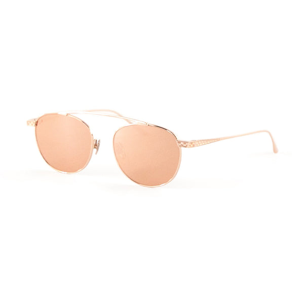 Leisure Society - Escher - 18K Rose Gold / Gold Mirror Tinted Lenses - Round - Titanium - Sunglasses