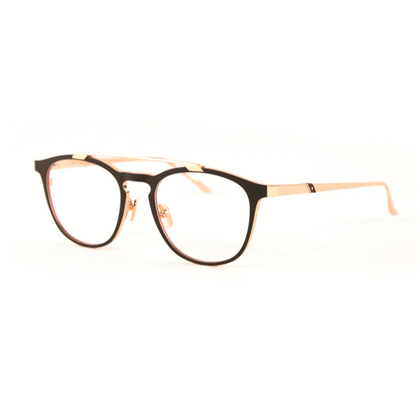 Leisure Society - Eze - Burgundy / Rose Gold - Rounded - Rectangle - Titanium - Eyeglasses