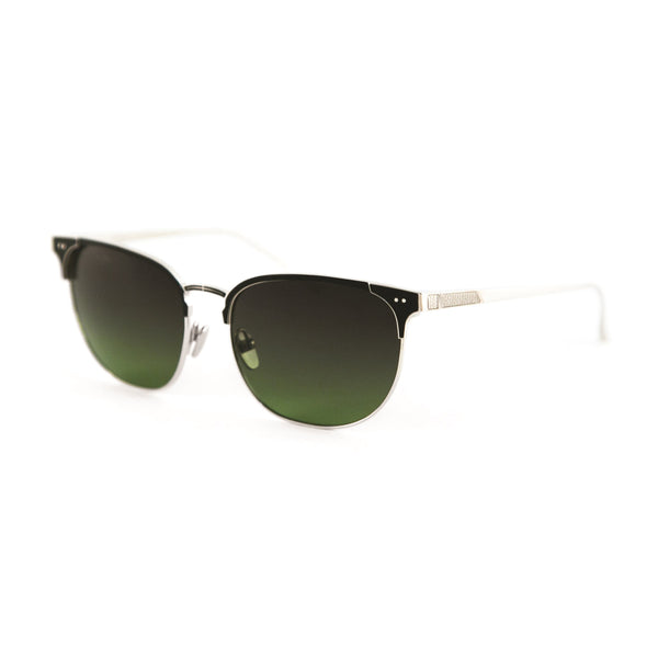 Leisure Society - Monte Carlo - Silver / Black - Browline - Titanium - Sunglasses - Polarized Sunglasses