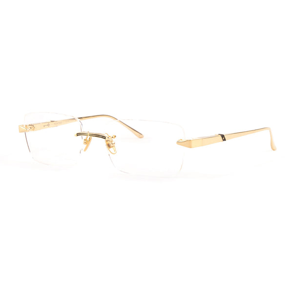 Leisure Society - Monterey - 24K Gold - Rectangle - Rimless - Titanium - Eyeglasses