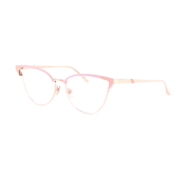 Leisure Society - Satie - Rose Gold / Blush - Cateye - Titanium - Eyeglasses