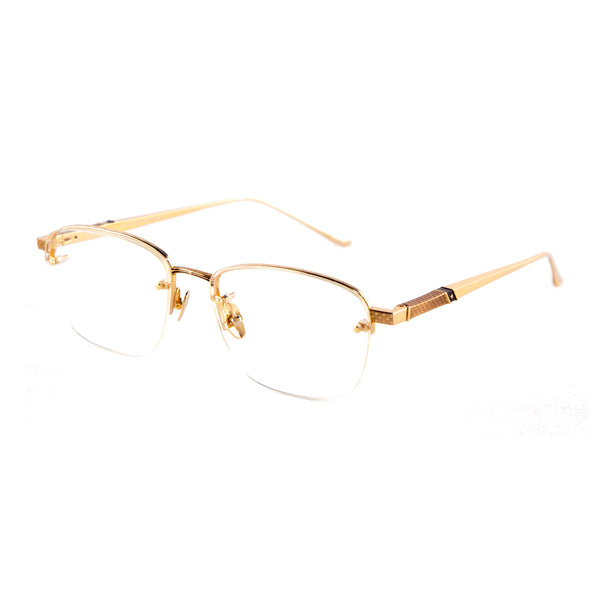 Leisure Society - Solana - 24K Gold - Rimless - Rectangle - Eyeglasses - Titanium
