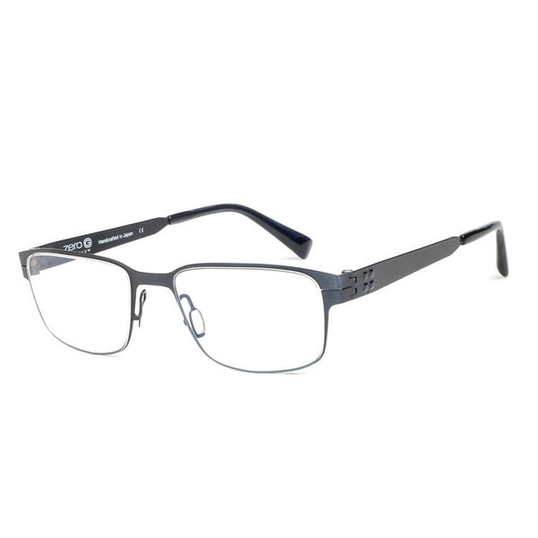 Zero G Little Neck Brushed Blue Steel Eyeglasses Hicks Brunson Eyewear
