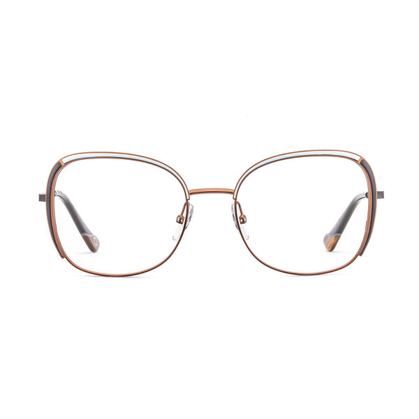Etnia Barcelona - Livenza - 2BRBK - Bronze / Black / White - Metal - Eyeglasses - Hicks Brunson Eyewear