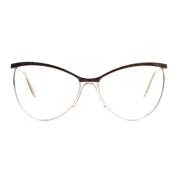 Andy Wolf - Lueza - E - Rust / Silver - Cateye - Metal - Eyeglasses - Hicks Brunson Eyewear