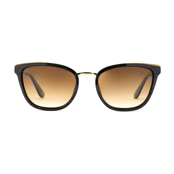 Etnia Barcelona - Madelein - 1BKGD - Black / Gold / Photochromic Brown-Gradient Lenses - Cateye - Sunglasses - Hicks Brunson Eyewear