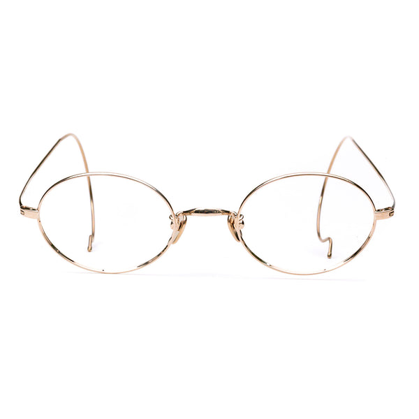 Masunaga - GMS-196TN - 11 - Gold - Round - Titanium - Cable Temple - Eyeglasses - Hicks Brunson Eyewear