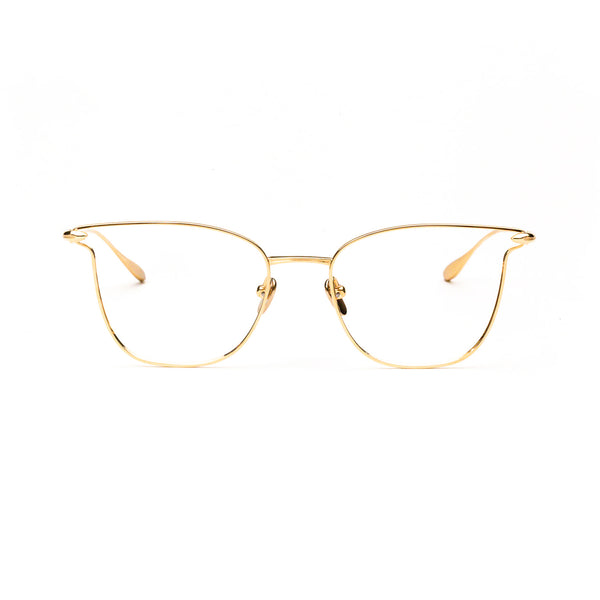 Masunaga - Liberty - 21 - Gold - Cateye - Titanium - Eyeglasses - Hicks Brunson Eyewear