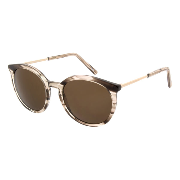 Andy Wolf - Miiko - Brown/Gold - E - Round - Zyl - Sunglasses