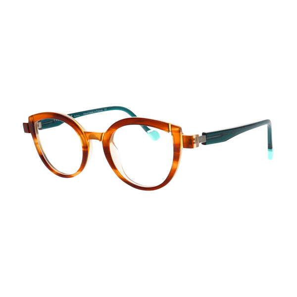 Face A Face - Mikado 1 - 4058 - Tortoise / Teal - Cateye - Eyeglasses
