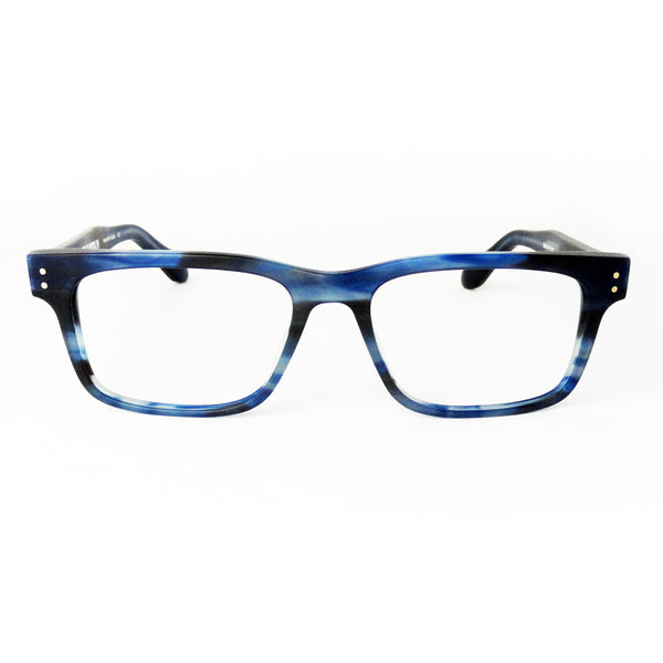 Born In Brooklyn - Mill Basin - Blue Brown Swirl - Rectangular Eyeglasses - Hicks Brunson Eyewear
