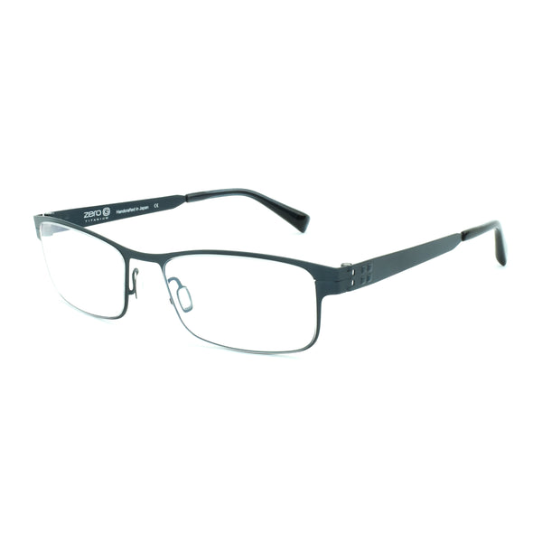 Zero G - Mineola - Brushed Blue Steel - Rectangular Eyeglasses - Titanium - Hicks Brunson Eyewear