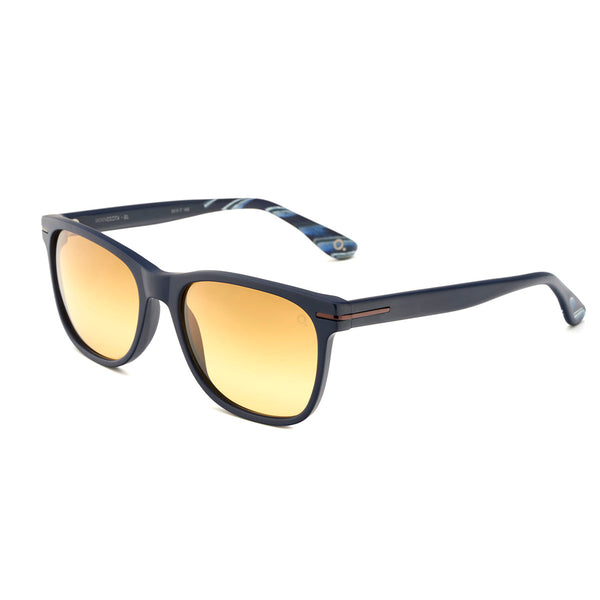 Etnia Barcelona - Minnesota - 1BL - Matte Blue / Polarized Brown-Gradient Lenses - Polarized - Rectangle - Sunglasses - Hicks Brunson Eyewear