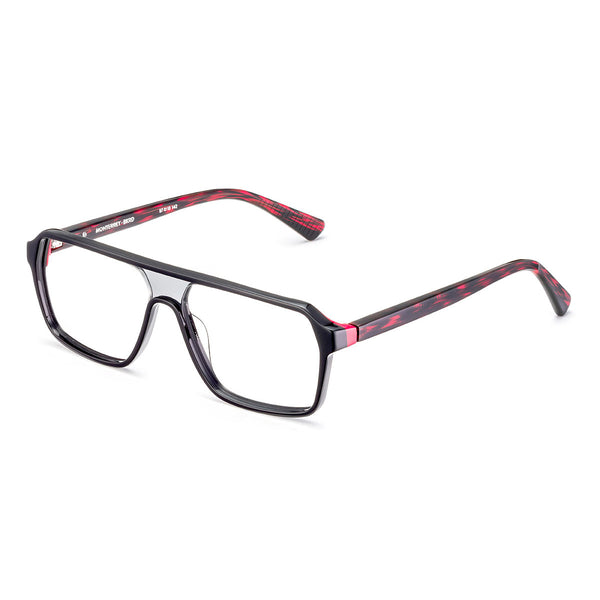 Etnia Barcelona - Monterrey - BKRD - Black/Red - Rectangular Eyeglasses