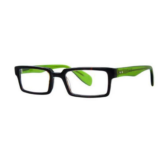 Scojo - Montgomery St. - Dark Tortoise / Lime - Rectangular - Reading Glasses - Readers