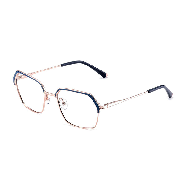 Etnia Barcelona - Nitra - BLPK - Blue/Pink Gold - Hexagonal - Rectangular - Eyeglasses