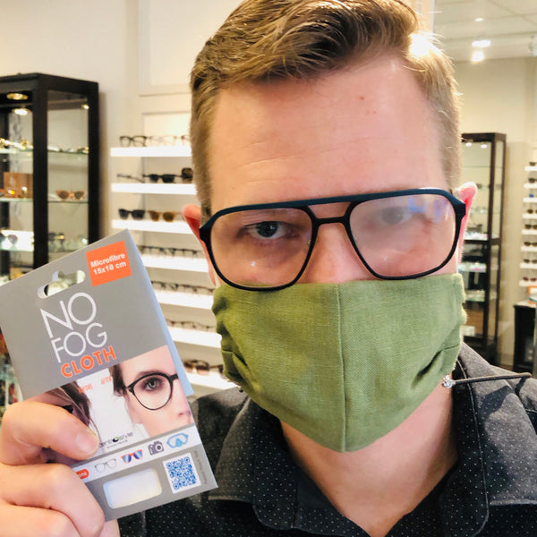 No Fog Cloth - Anti-Fog Cloth - Anti Fog Cloth - Anti-Fog Treatment for Glasses - Lens Cloth - Microfiber Cloth - Hicks Brunson Eyewear