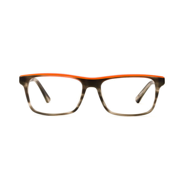 Etnia Barcelona - Ontario - BKOG - Matte Grey/Orange - Rectangular Eyeglasses