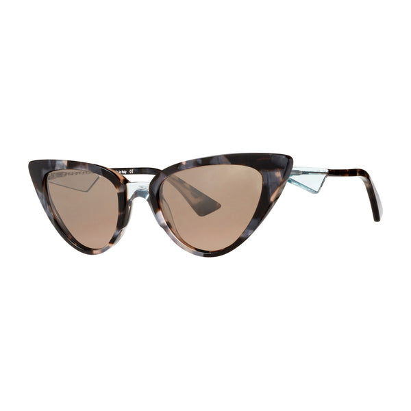 Face A Face - Pepps 2 - 6092 - Pearl Tortoise / Crystal / Mirror Brown-Tinted Lenses - Cateye - Sunglasses - Hicks Brunson Eyewear