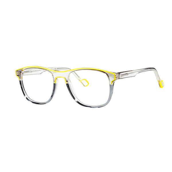 Face A Face - Picca 1 - 4012 - Crystal / Yellow - Rectangle - Zyl Acetate - Eyeglasses - Hicks Brunson Eyewear