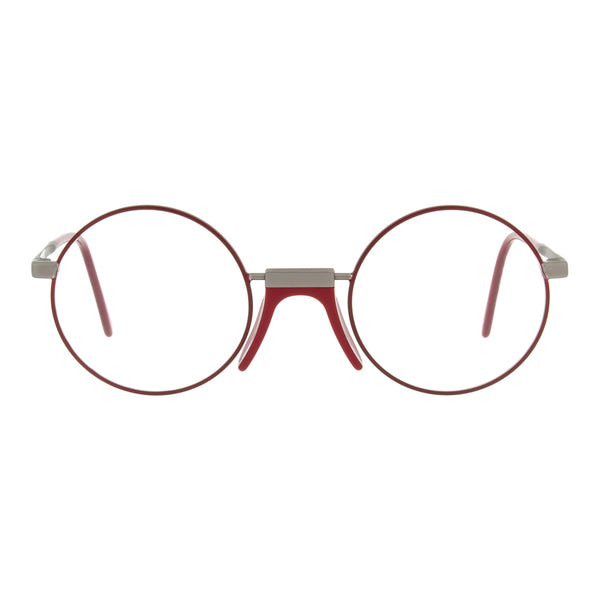 Andy Wolf - Ross - D - Red/Gunmetal - Round - Metal - Eyeglasses