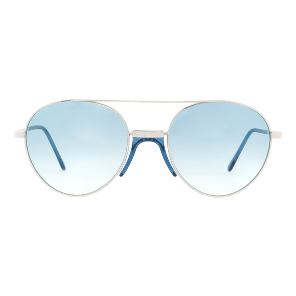Andy Wolf - Stiltenn - E - Silver/Blue - Sunglasses - Metal - Round