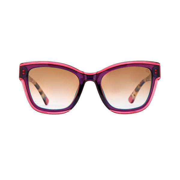 Etnia Barcelona - Santorini - BLHV - Magenta / Blond Tortoise / Gradient-Brown Tinted Lenses - Cateye - Sunglasses - Hicks Brunson Eyewear