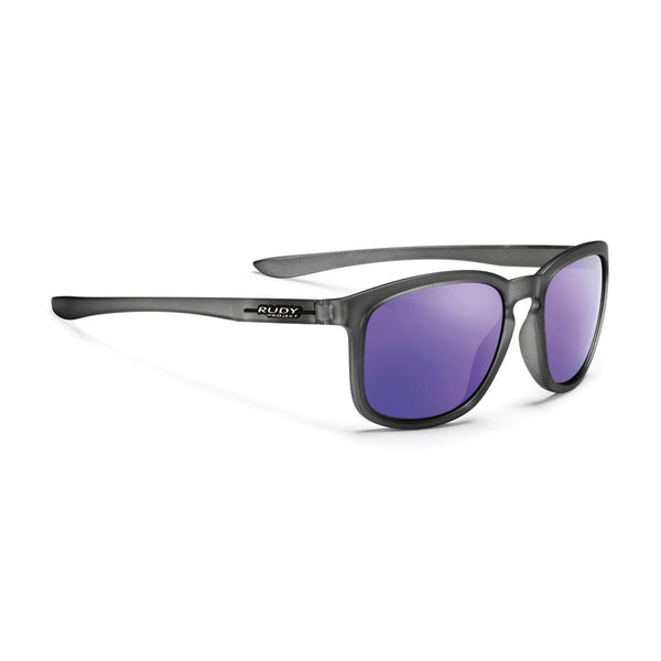 Rudy Project - Soundwave - Ice Graphite Matte / Multilaser-Violet Lenses - Rectangle - Mirrored Lenses - Sunglasses - Hicks Brunson Eyewear