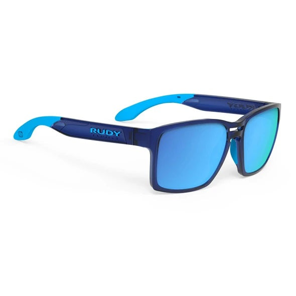 Rudy Project - Spinair 57 - Crystal Blue / Multilaser-Blue - Rectangle - Mirrored Lenses - Sunglasses - Hicks Brunson Eyewear
