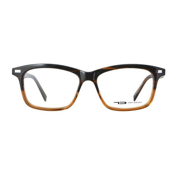 TD Tom Davies TD281 609 Eyeglasses Black Brown Plastic