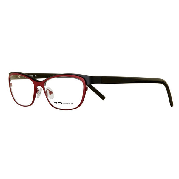 TD Tom Davies TD353 727 Eyeglasses Black Red Titanium