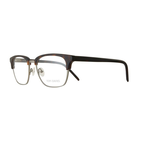Tom Davies - TD 449 - 1296 - Matte Havana / Brushed Silver - Rectangular Eyeglasses