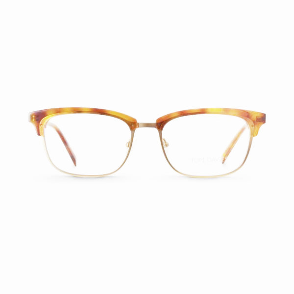Tom Davies - TD 451 - 1305  - Gold / Havana - Metal - Rectangular Eyeglasses