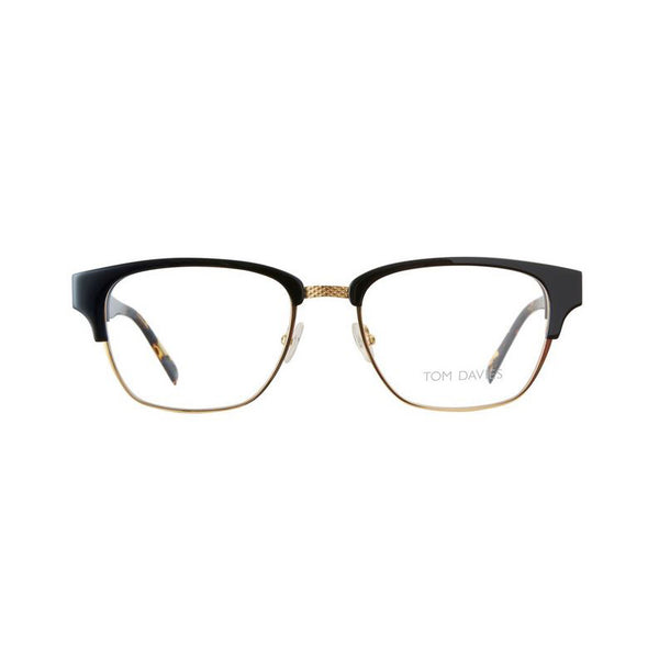 Tom Davies - TD 453 - 1312 - Black / Gold / Tortoise - Rectangular Eyeglasses
