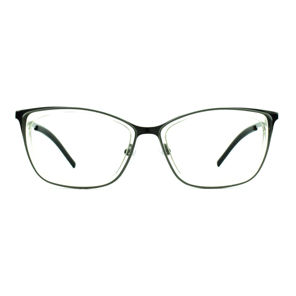 Tom Davies - TD454 - 1343 - Crystal/Gunmetal - Cateye - Eyeglasses - Hicks Brunson Eyewear