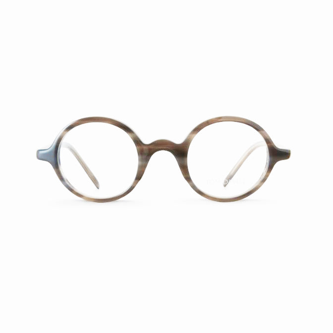 Tom Davies - TD458 - Grey Tort - 1318 - Rounded - Eyeglasses - Hicks Brunson Eyewear