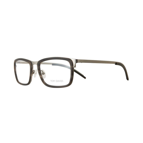 Tom Davies - TD 464 - 1360 - Matte Silver / Smoke - Rectangular Eyeglasses