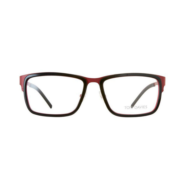 Tom Davies - TD465 - 1364 - Red / Black - Rectangular Eyeglasses
