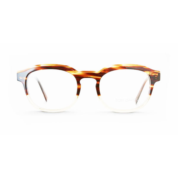 Tom Davies - TD469 - 1399 - Havana / Crystal - Rounded Rectangle - Eyeglasses - Hicks Brunson Eyewear