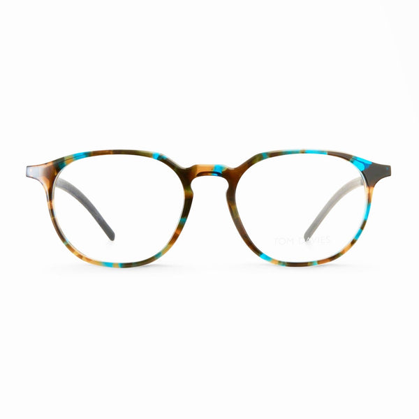 Tom Davies - TD 486 - 1423 - Blue Tortoise / Gunmetal - Acetate - Eyeglasses - Hicks Brunson Eyewear